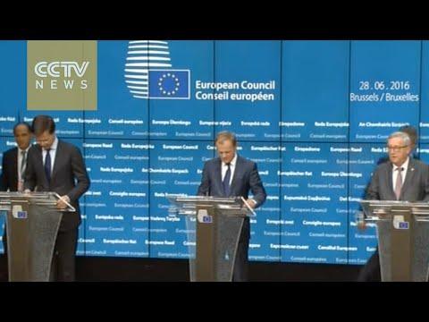 EU leaders urge UK to trigger exit procedure