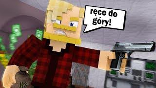 NAPADŁEM NA BANK! GONIŁA MNIE POLICJA! l Minecraft BlockBurg