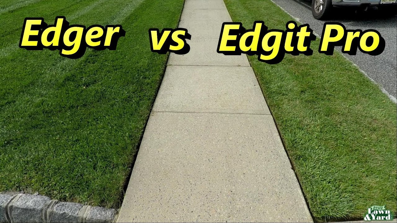 Blade Edger Vs Edgit Pro Edging A Sidewalk Stihl Fs90r