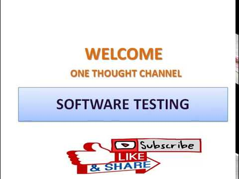 software testing tutorial-02||One Thought|||