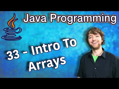 Java Programming Tutorial 33 - Intro To Arrays thumbnail