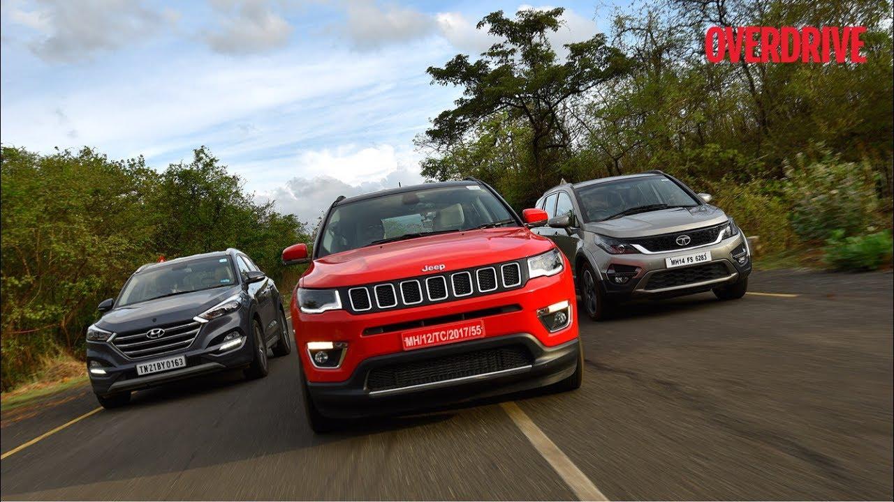 Tucson 2017 Vs Tucson 2018 >> Jeep Compass vs Tata Hexa vs Hyundai Tucson vs Mahindra XUV 500 - Comparative Review - YouTube