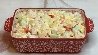 Восхитительный салат с АНАНАСАМИ за 5 минут