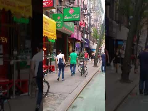 The village Bleecker street new York September