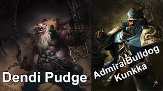 AdmiralBulldog Kunkka, Dendi Pudge, Sheever Lich record live stream on twitch