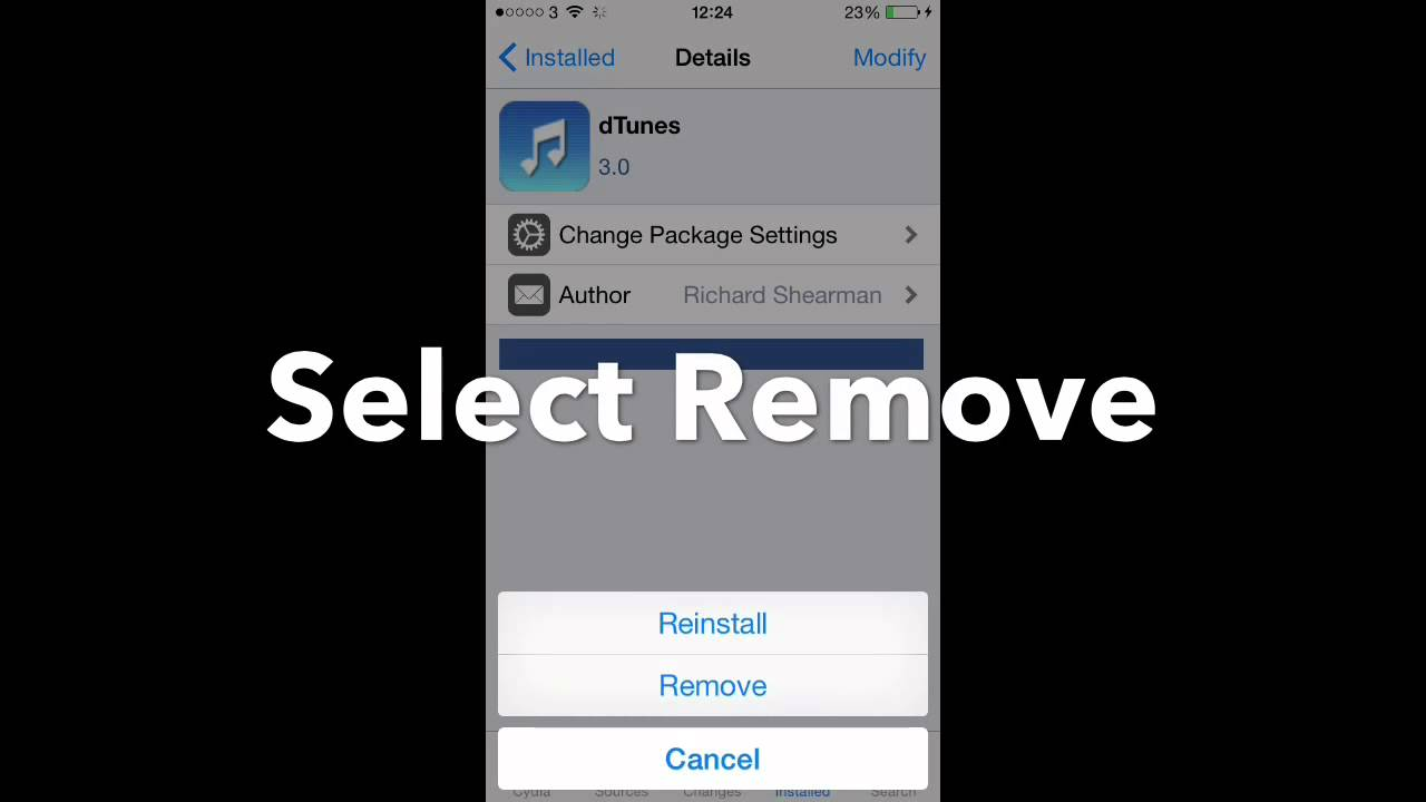 How to delete remove cydia apps on iphone or ipad youtube how to delete remove cydia apps on iphone or ipad ccuart Choice Image