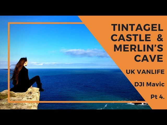 Tintagel Castle Cornwall - Family travels Europe in a Motorhome - DJI Drone footage - Wandering Bird