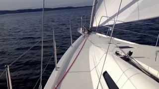Il nuovo Italia Yachts 12.98 in navigazione a Muggia