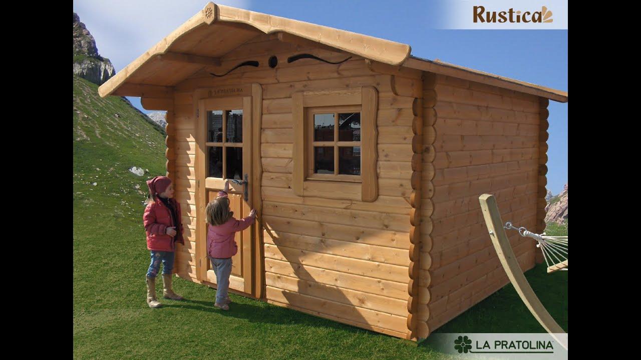 montaggio casetta in legno da giardino rustica youtube