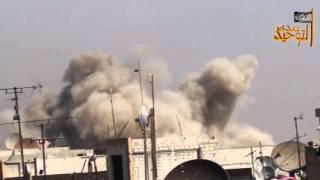 02 10 2015  Сирия  Бомбардировка позиции террористов  Запись боевиков