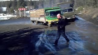 Дальнобой по России Ачинск Пробка на Трактово-курзан (старая дорога)
