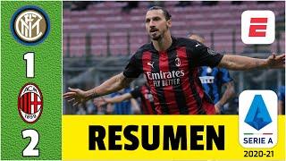 Inter 1-2 Milan. Zlatan Ibrahimovic regresó con doblete y hace historia en Derbi de Milán | Serie A