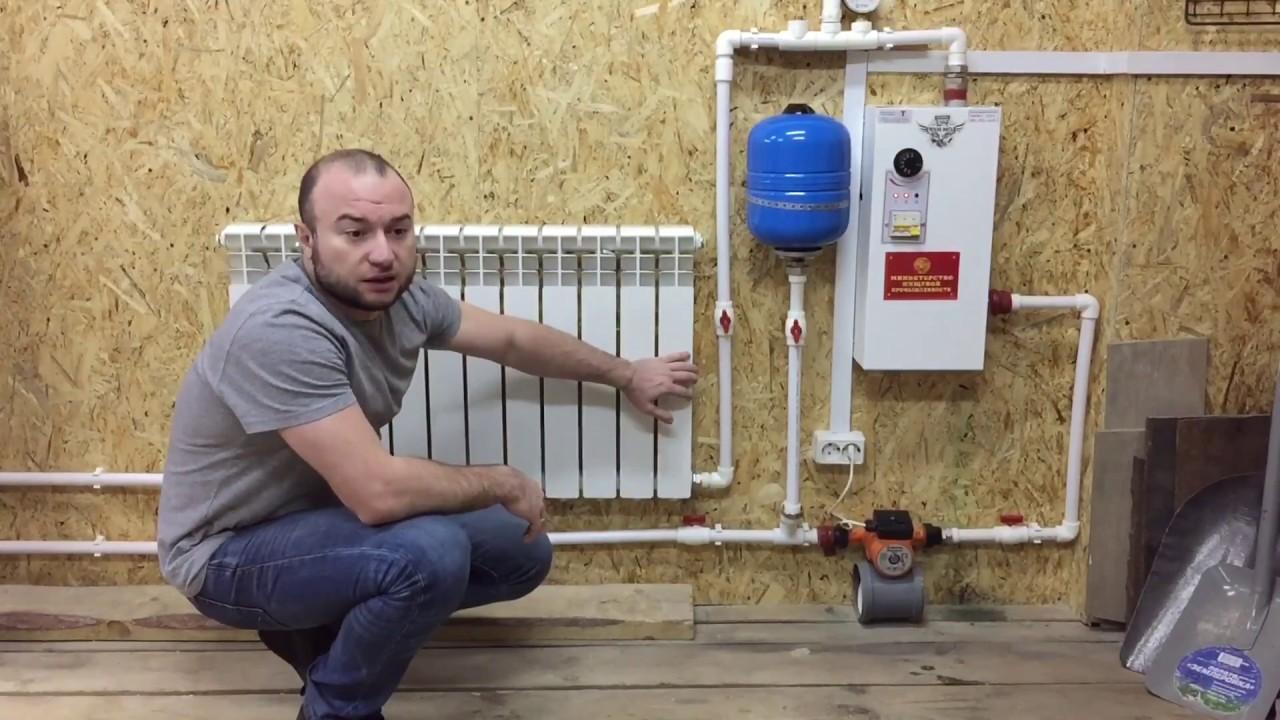 Отопление гаража электрическим котлом