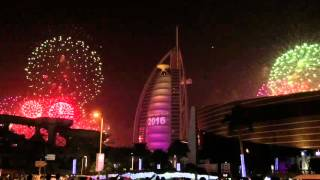 New Year 2016 Fireworks Display at Burj Al Arab