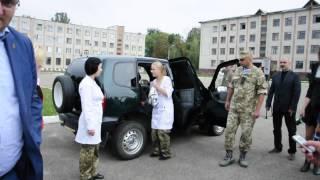Медичній частині військових у Чернівцях вручили відремонтоване авто та медикаменти