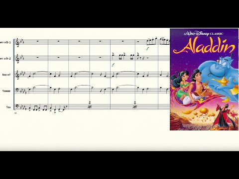 Prince Ali from Aladdin for Brass Quintet Sheet Music