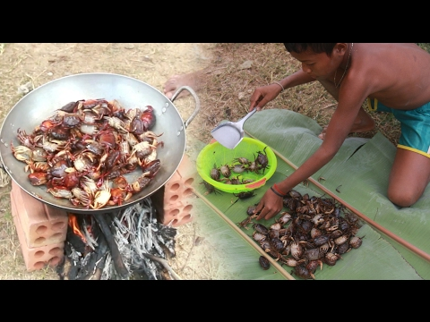 Thumbnail: Amazing Two Children Cook Crabs - How To Cook Crabs In Cambodia - Countryside Food