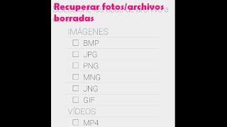 Recuperar fotos y archivos borrados de la memoria del teléfono o SD screenshot 2