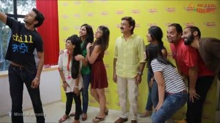 Actor Ramesh Aravind and Actress Harshika Poonacha at Radio Mirchi Bengaluru