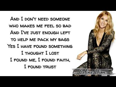 Celine Dion - Lying Down (Lyrics)