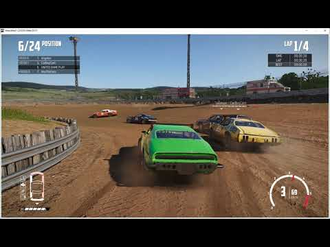 (MADMAN DRIVING) Wreckfest, Glendale Countryside, Bloomfield Speedway, Crash Cayon