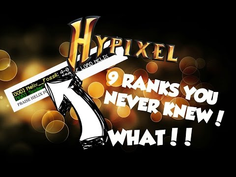 9 RANKS YOU PROBABLY NEVER KNEW EXISTED ON THE HYPIXEL SERVER Minecraft