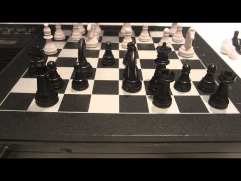 7 minute game vs. my new chess computer Mephisto Modena