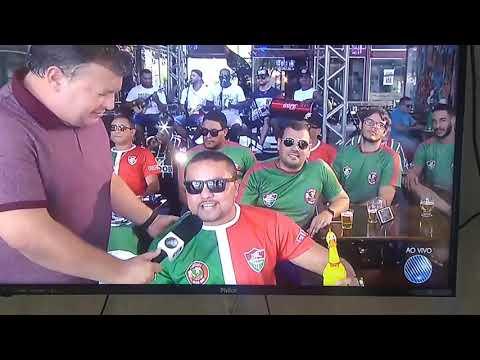 Gravação da torcida Flu de Feira no Globo Esporte..gravado direto de Feira de Santana