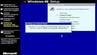 Windows 98 Installation - Virtual Box