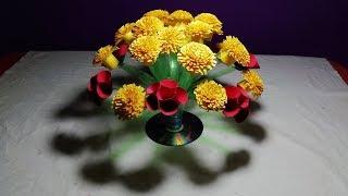 Make Beautiful flowers || How to make plastic bottle flower - Easy Guldasta from plastic