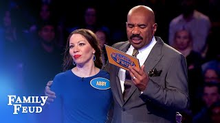 Can Anne and Abby win ANOTHER $20,000? | Family Feud Video