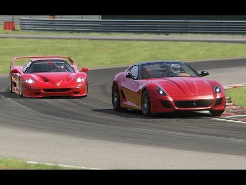 Battle Ferrari F50 vs Ferrari 599 GTO at Magione