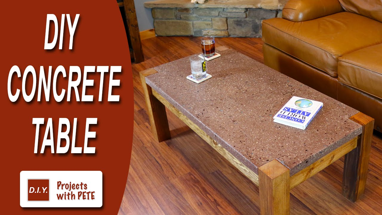 How To Make A Concrete Table Polished Top With Recycled Gl You