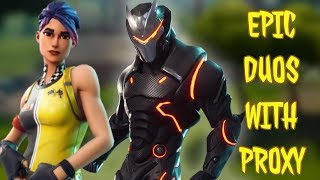 DUO DUBS WITH PROXY - FORTNITE BATTLE ROYALE (2000 V-Bucks Give Away At 100 subscribers)