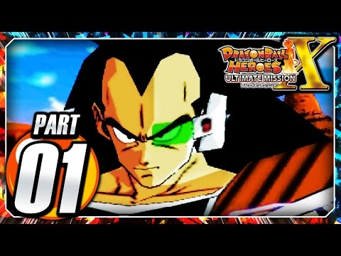 Dragon Ball Heroes Ultimate Mission X 3DS: Part 1 - Intro & Raditz Battle!
