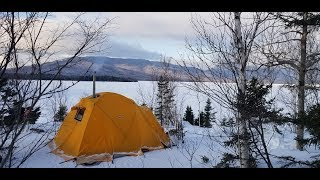 Snowmobile Packing/Winter Camping with an Arctic Oven Tent in North Central Maine