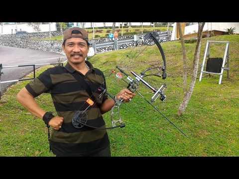 Uji coba compound bow bear archery cruzer di lapangan taman balaikota bukittinggi