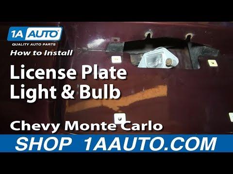 1978 pontiac firebird license plate light housing