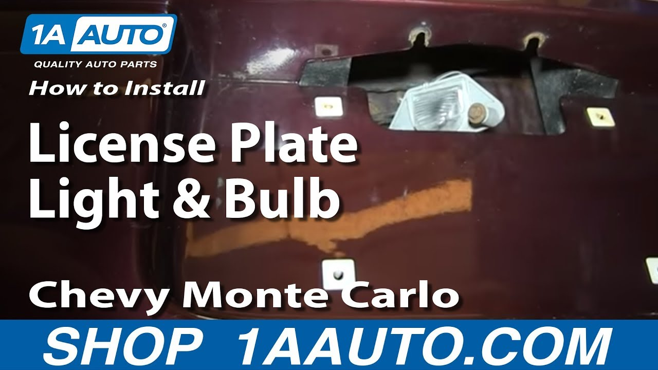 How To Install Replace License Plate Light And Bulb 2000
