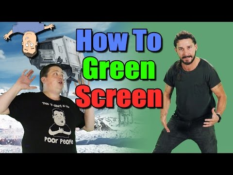 How to use a GREEN SCREEN in your video production tutorial