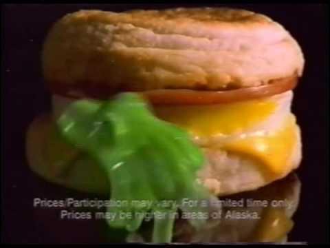 TV commercial McDonalds flubber movie (circa 1997)