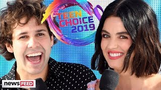 David Dobrik & Lucy Hale's Craziest Hosting Moments from The 2019 Teen Choice Awards! Video