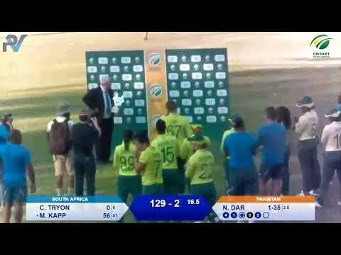 Women's Cricket - SA vs PAK 2nd T20I - Live from Pietermaritzburg