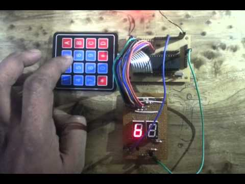 Interfacing hex keypad to 8051  Circuit diagram and assembly program