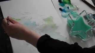 ASMR ART - How to draw Koi Fish