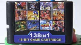Sega Mega Drive - 138 in 1 Retro Multi Game Cart Collection / FunnyPlaying.com