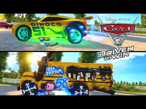 CARS 3 DRIVEN TO WIN TWO PLAYER MISS FRITTER VS FRANCES BELTLINE CAR VIDEO RACING GAME