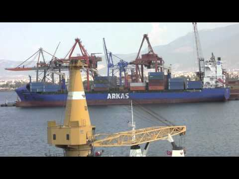 The Port of Izmir, Turkey - 31st July, 2012 (HD)