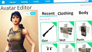 MAKING FORTNITE SKINS A ROBLOX ACCOUNT