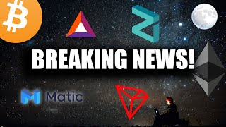 Breaking Crypto News! BTC $11k Soon, ETH2 Launch, Matic Network, Zilliqa, TRON 4.0